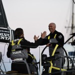 2014-15, VOR, Volvo Ocean Race, Lisbon, Stopover, arrival, Leg7, celebration, Skipper, Bouwe Bekking, OBR, Stefan Coppers