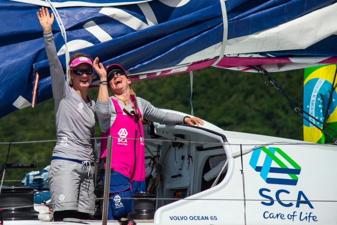 2014-15, VO65, VOR, Volvo Ocean Race, Leg5, sailing, RIB, Team SCA, Arrivals, Itajai, Brazil