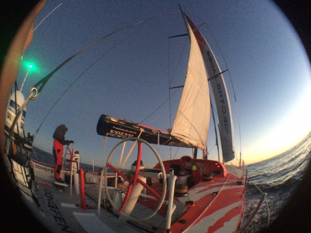 VOR, Volvo Ocean Race, 2014-15, Dongfeng Race Team, Ushuaia, repair, deliver, retired, Onboard