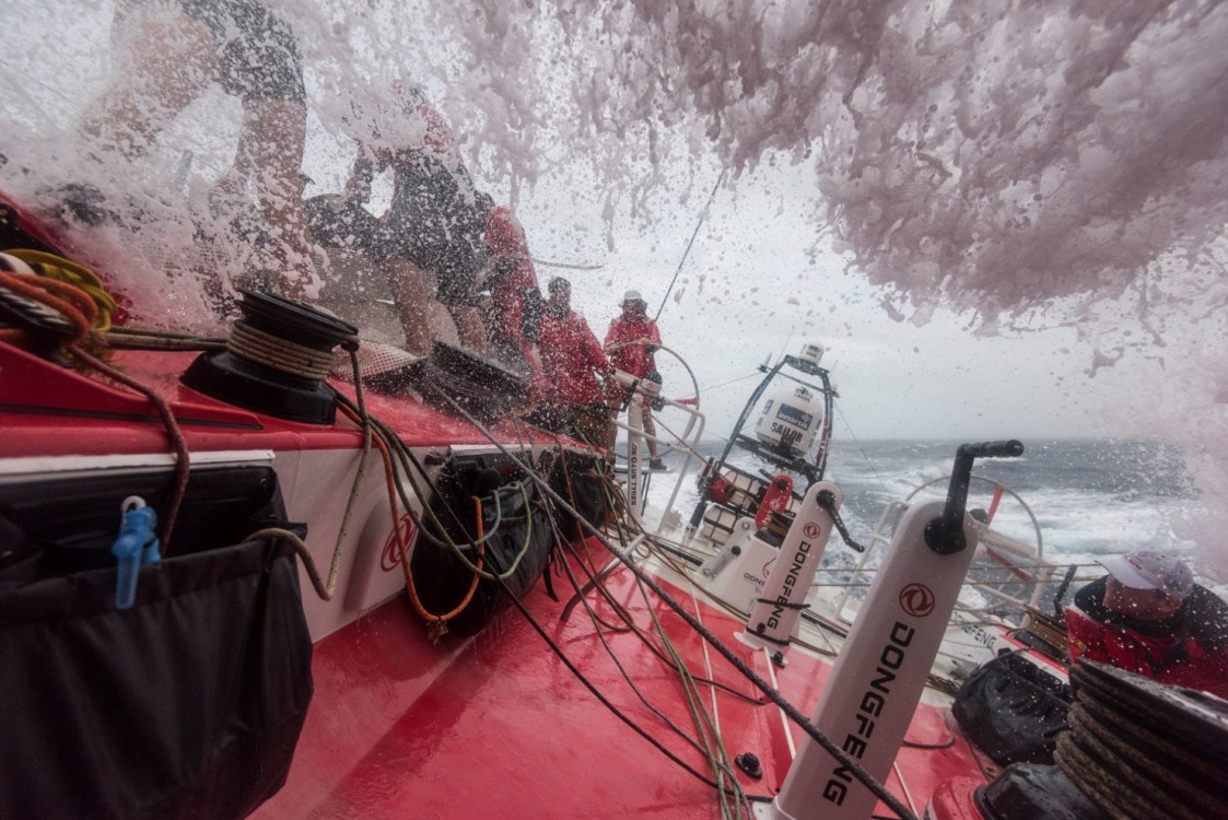 2014-15, Dongfeng Race Team, Leg6, OBR, VOR, Volvo Ocean Race, onboard, splash