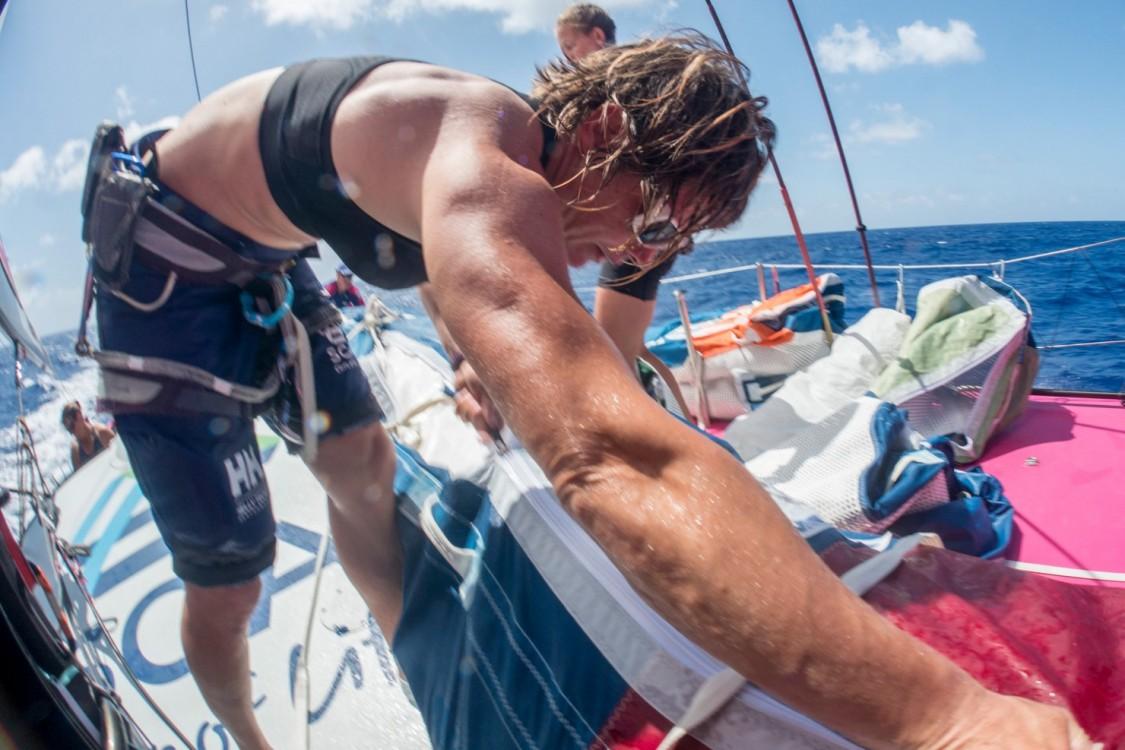 2014-15, ACTION, LEGS, Leg 6, Liz Wardley, OBR, Team SCA, VOR, Volvo Ocean Race, onboard, sail, stack