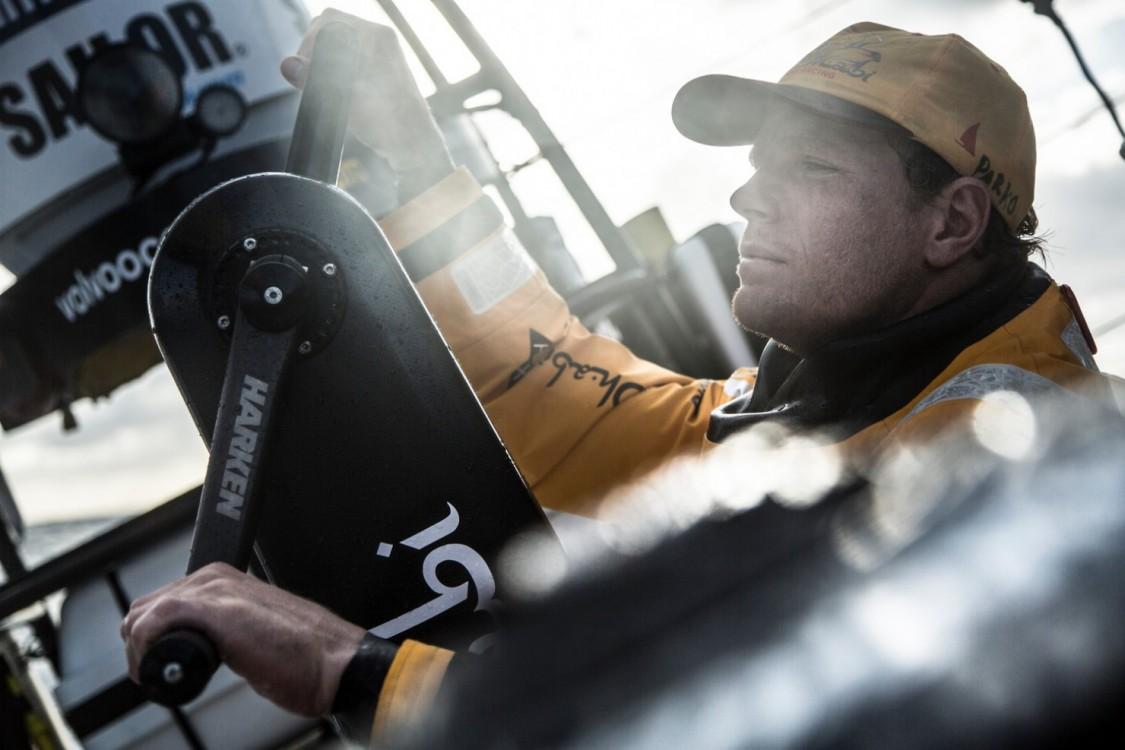 2014-15, Abu Dhabi Ocean Racing, Leg7, VOR, Volvo Ocean Race, onboard, Luke Parkinson, trim, grinder