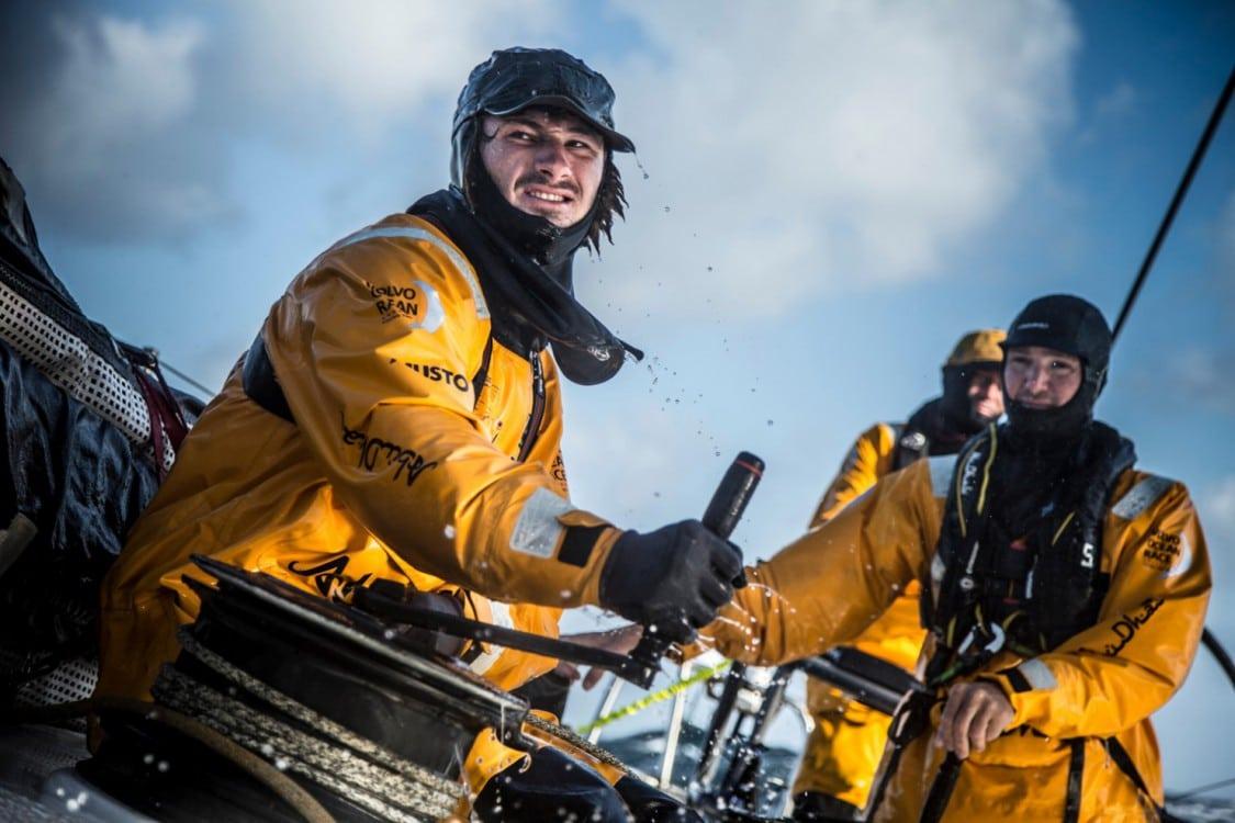 2014-15, Abu Dhabi Ocean Racing, Leg 8, VOR, Volvo Ocean Race, onboard, Louis Sinclair, trim, winch, Phil Harmer, Bay of Biscay