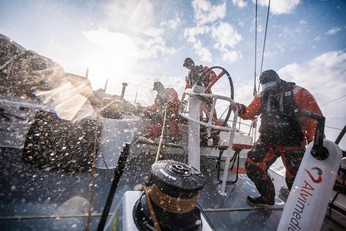 2014-15, Leg8, ONBOARD, TEAM ALVIMEDICA, VOR, Volvo Ocean Race, splash, spray, Bay of Biscay