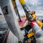 2014-15, Abu Dhabi Ocean Racing, Leg 9, VOR, Volvo Ocean Race, onboard, Justin Slattery Luke Parkinson, sail, bow