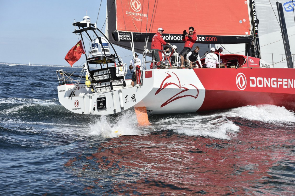 2014-15, Start, Lorient, Stopover, VOR, Volvo Ocean Race, village, pontoon, Dongfeng Race Team, VVIP, leg Jumper