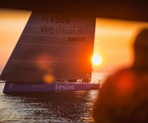 2014-15, Leg9, ONBOARD, TEAM ALVIMEDICA, VOR, Volvo Ocean Race, Ryan Houston, Team Vestas Wind, Sunset