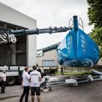 Bergamo, Genoa, Italy, OBR, Ocean, Persico, Race, VOR, Vestas, Volvo, Wind, base, team, 2014-15, VO65, Volvo Ocean Race, Team Vestas Wind, rebuild, delivery, truck