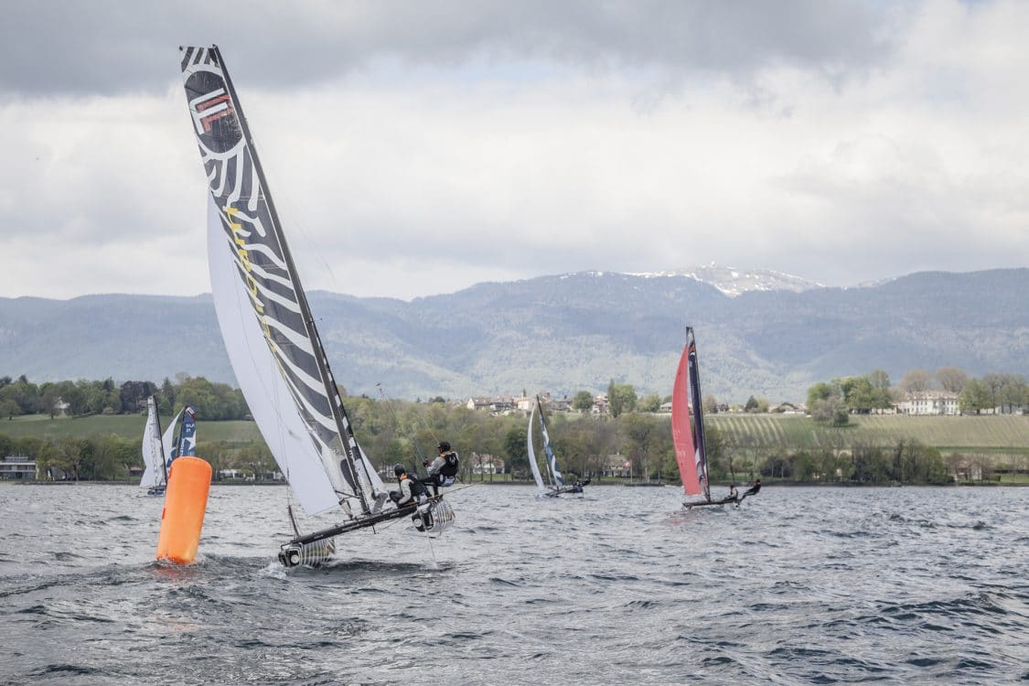 Flying Phantom, Lac Léman, Switzerland, Suisse, Voile, Sailing, Regatta, Boat, Foil, Speed boat, Extreme Sailing, Catamaran, Multihull, FP, Swiss FP Series, SFPS, Club Nautique de Crans, CNC, Grand Prix