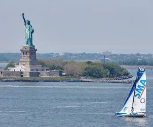 05-2016, DAY, OUTSIDE, NEW YORK CITY, USA, JOUR, NEW YORK, SINGLE HANDED, IMOCA, MONOHULL, OCEAN MASTER, MANHATTAN, NEW YORK-VENDEE, Currency House NY-Vendee Charity race, heli