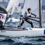 2017 World Cup Series Hyères, Classes, GBR 257 Chris Rashley GBRCR28 Laura Marimon Giovannetti GBRLM230, Nacra 17, Olympic Sailing, Pedro Martinez, Sailing Energy, World Cup Series Hyères 2017, World Sailing