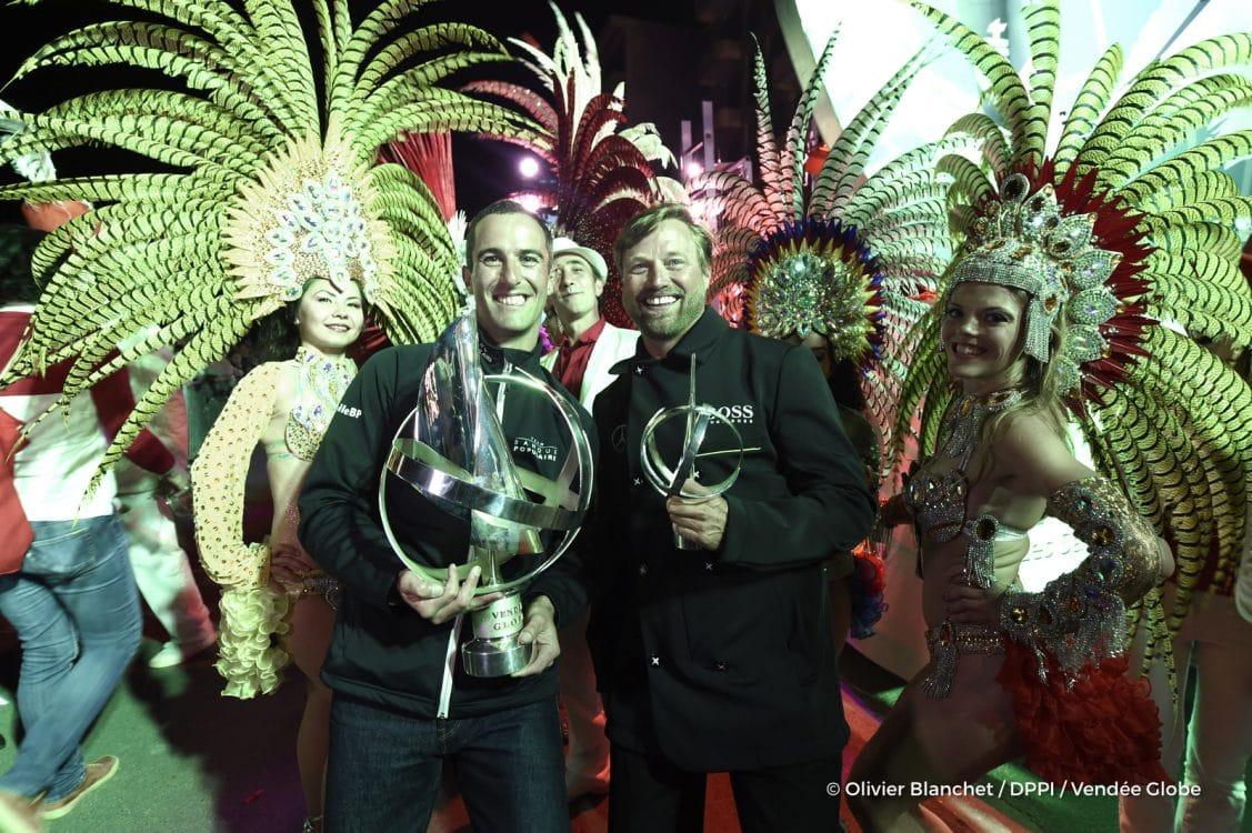 voile, sail, mai, ceremonie, remise de prix, prix, trophée, trophy, tour du monde, officiels