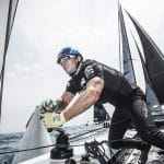 ESS, The Extreme Sailing Series 2017, Mutihull, GC32, Foiling Yacht, Sailing, Foiling, Barcelona, Spain, Yacht Racing, Day1, Red Bull Sailing Team, Roman Hagara, Hans Peter Steinacher, Stewart Dodson, Adam Piggott, Will Tiller