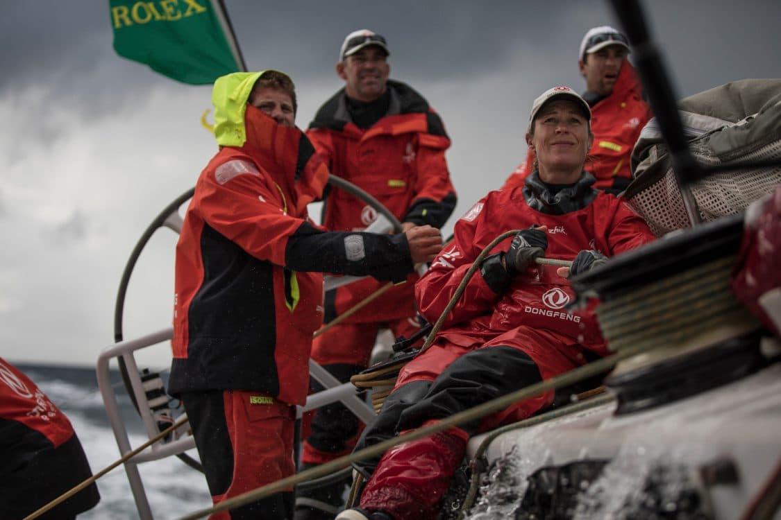 2017-18, Carolijn Brouwer, Commercial, Dongfeng, Gottifredi Maffioli, Harken, Kind of picture, Leg Zero, On board, On-board, Portrait, Pre-race, Race Suppliers, Rolex Fastnet Race, crew member, rope