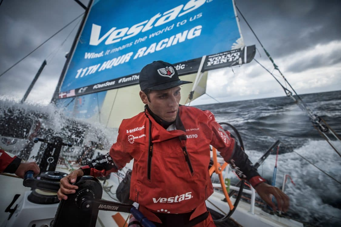 2017-18, Action, Commercial, Harken, Kind of picture, Leg Zero, On board, On-board, Portrait, Pre-race, Race Suppliers, Rolex Fastnet Race, Rough weather, Tom Johnson, Vestas 11th Hour Racing, Volvo Penta