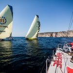 Start,Pre-race,MAPFRE,2017-18,on board,on-board,Vestas 11th hour Racing,Team Brunel,leg zero,Prologue