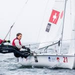 2018 World Cup Series, 470W, GAMAGORI, Japan, Olympic Sailing, SUI 521 Linda Fahrni (W)SUIFL2Maja SiegenthalerSUISM14, Sailing Energy, WC Series Gamagori, World Sailing
