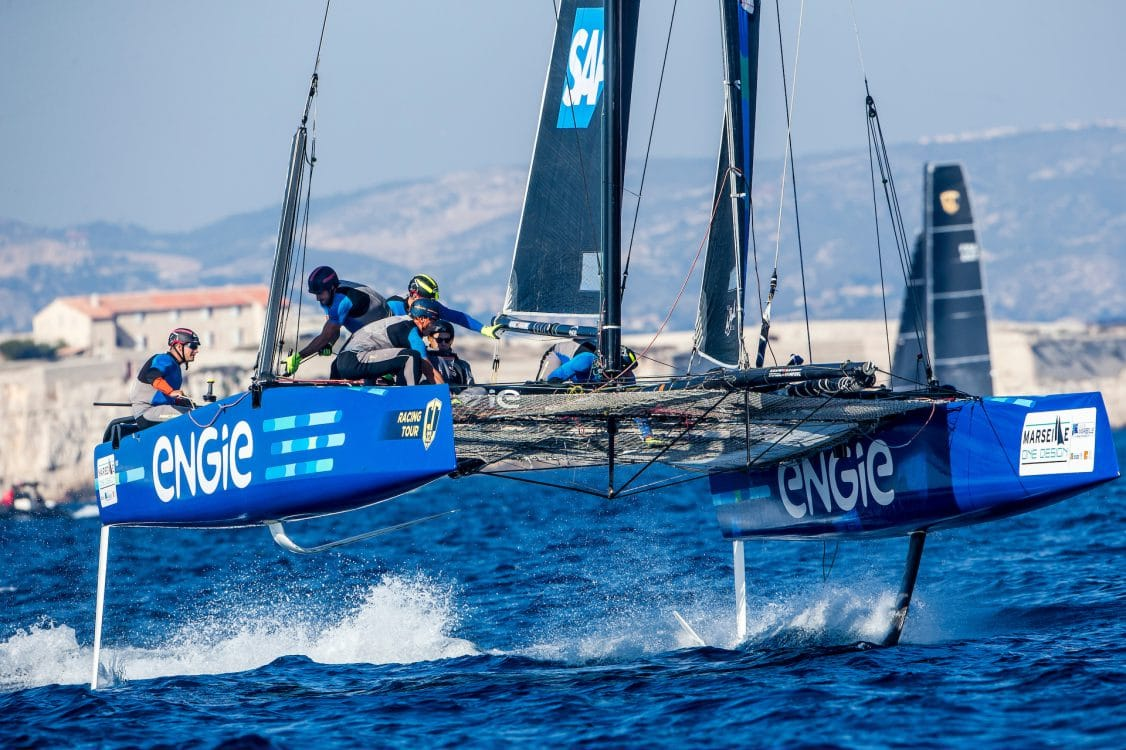 Extreme sailing, Fastest boats, GC32, GC32 MARSEILLE ONE DESIGN, GC32 Racing Tour, Marseille, TEAM ENGIE, catamaran, foiling, foiling catamaran, one design yacht, sailing, speed, yachting