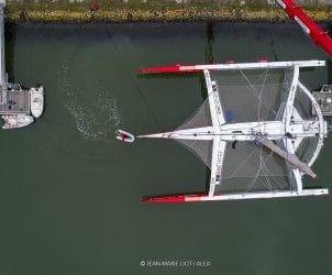 2018, multiplast, ultim, chantier, drone, idec, idec sport, mise a l'eau, launching