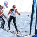 49erFX, AUT 24 5 Laura Schöfegger (W) Anna Boustani 49erFX, CLASSES, Olympic Sailing, Sailing Energy, World Cup Series Hyeres, World Sailing