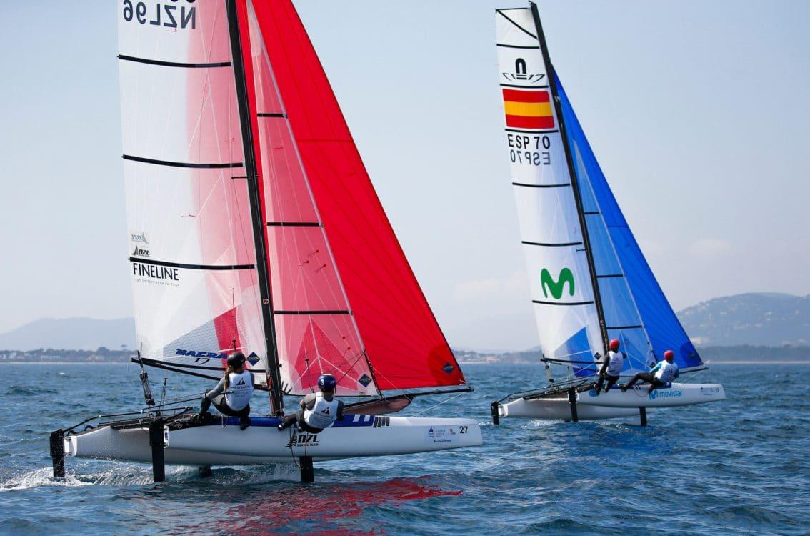 CLASSES, ESP 70 12 Iker Martinez de Lizarduy (M) Olga Maslivets Nacra 17, NACRA 17, NZL 96 27 Olivia Mackay (W) Micah Wilkinson Nacra 17, Olympic Sailing, Sailing Energy, World Cup Series Hyeres, World Sailing