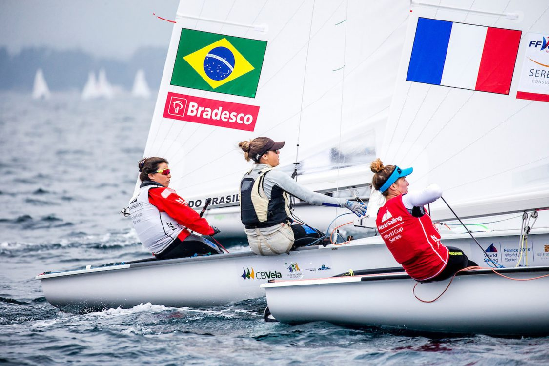 470 W, BRA 177 2 Fernanda Oliveira (W) Ana Luiza Barbachan 470 Women, CLASSES, Olympic Sailing, Sailing Energy, World Cup Series Hyeres, World Sailing